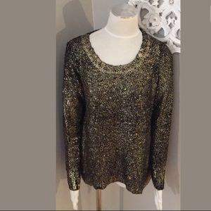 Alberto Makali Embellished Black Sweater Size M